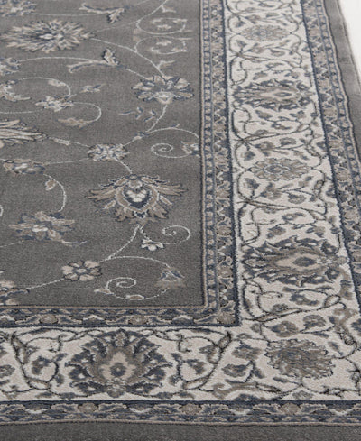 Largo - Isfahan - Grey-Area Rug-KM Home-The Rug Truck