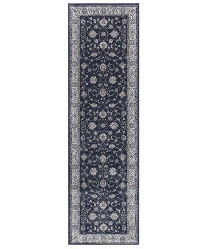 "Largo - Isfahan - Morning Blue-Area Rug-KM Home-2'3""x7'7""-The Rug Truck"