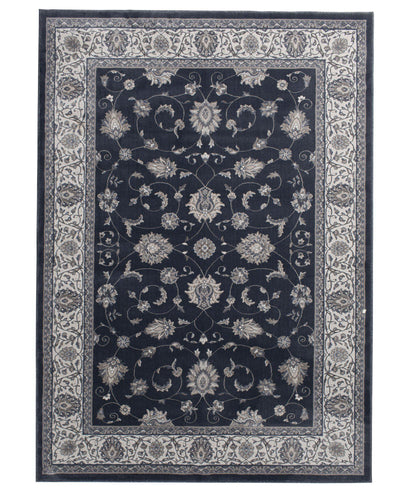 "Largo - Isfahan - Morning Blue-Area Rug-KM Home-3'3""x5'3""-The Rug Truck"