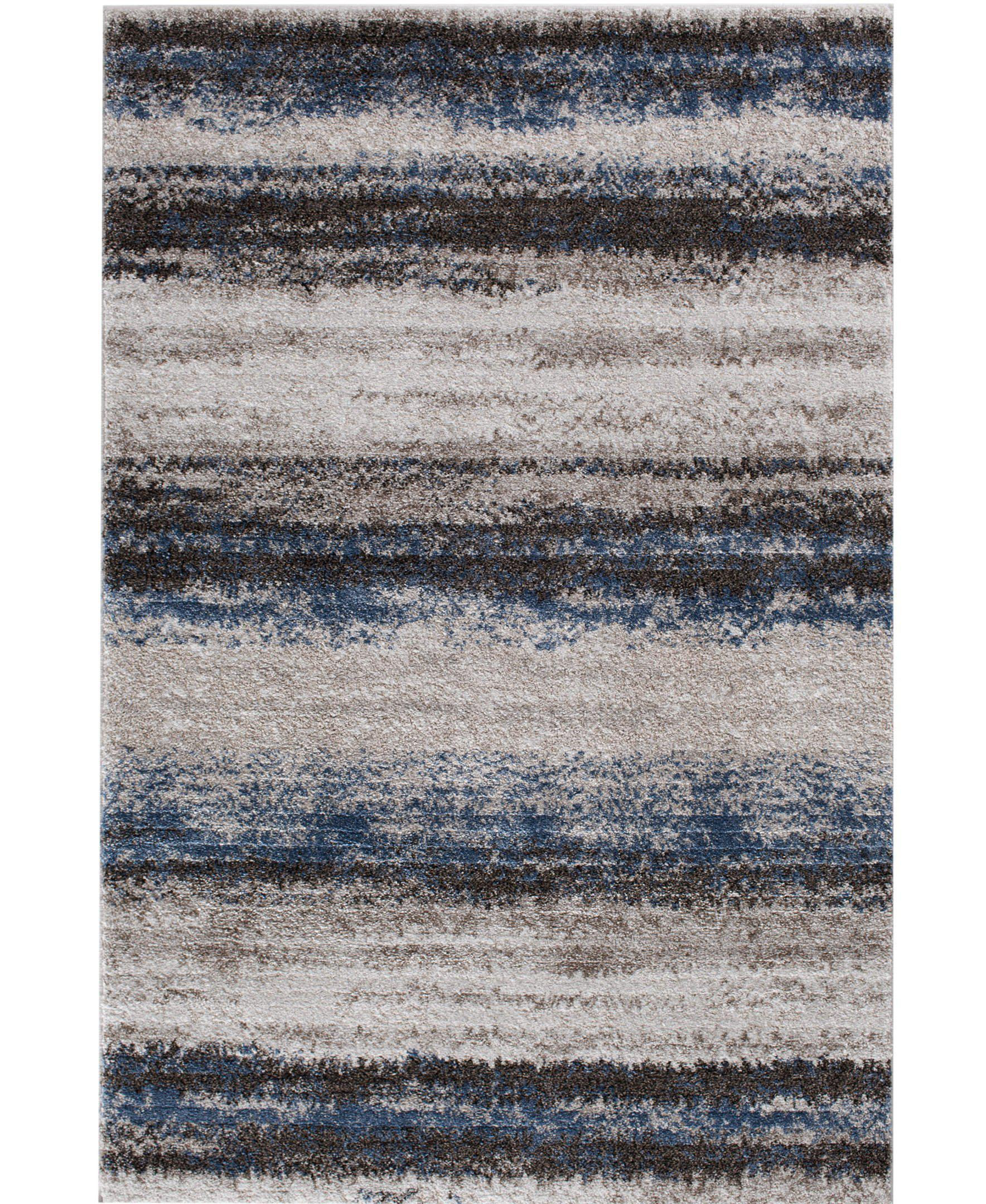 "Leisure - Bay - Sea Blue-Area Rug-KM Home-3'3""x5'3""-The Rug Truck"