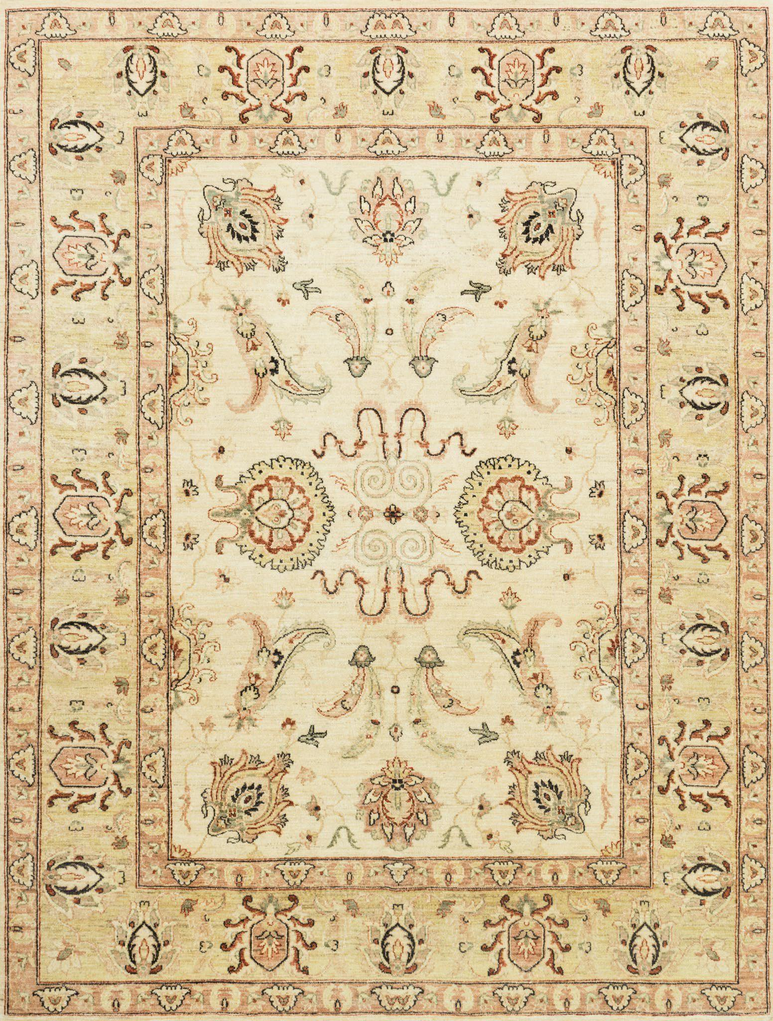 "Majestic MM-02 Ivory / Gold Area Rug-Area Rug-Loloi-2'-0"" x 3'-0""-The Rug Truck"