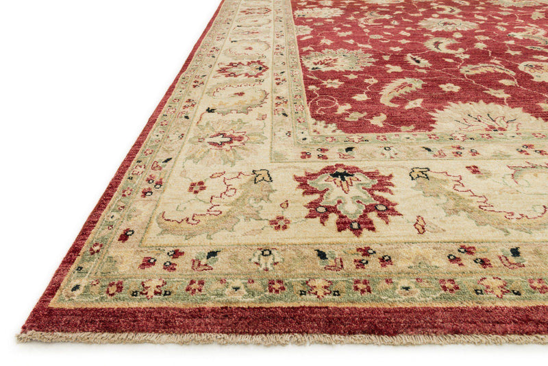 "Majestic MM-04 Red / Ivory Area Rug-Area Rug-Loloi-2'-0"" x 3'-0""-The Rug Truck"