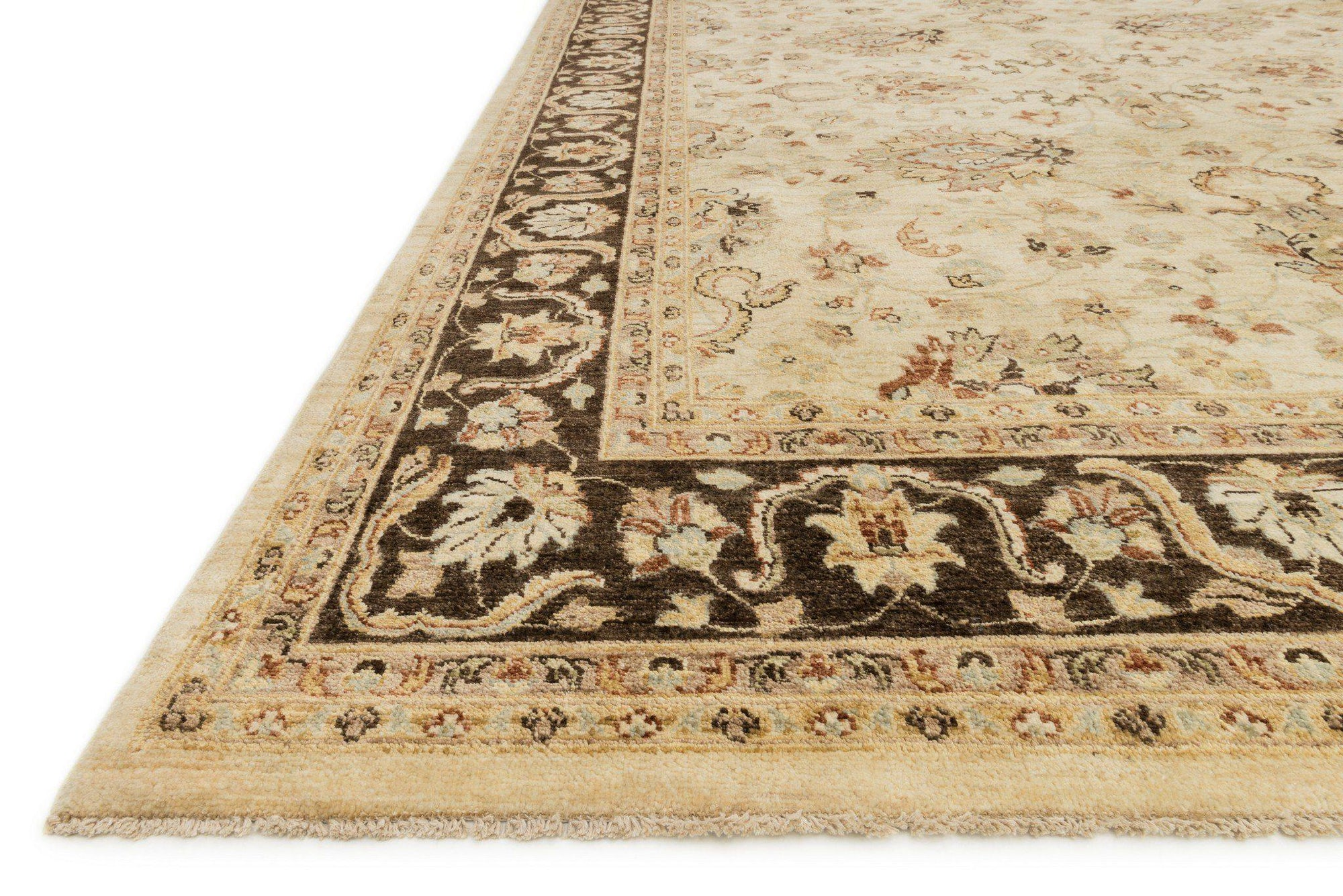 "Majestic MM-06 Ivory / Mocha Area Rug-Area Rug-Loloi-2'-0"" x 3'-0""-The Rug Truck"