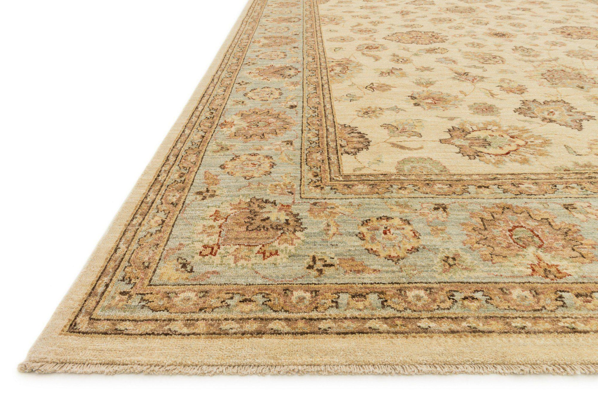 "Majestic MM-07 Ivory / Blue Area Rug-Area Rug-Loloi-2'-0"" x 3'-0""-The Rug Truck"