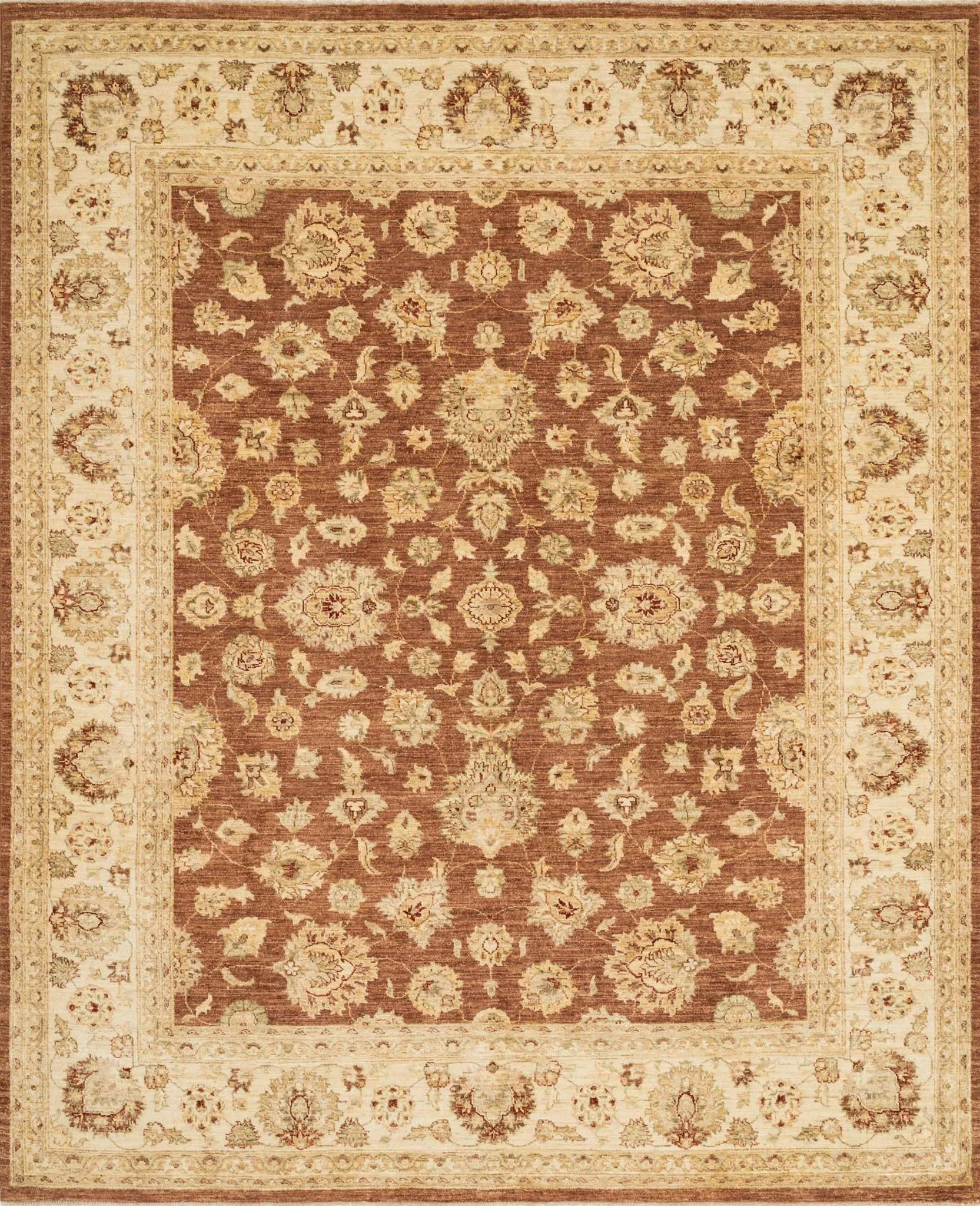 "Majestic MM-07 Rust / Ivory Area Rug-Area Rug-Loloi-2'-0"" x 3'-0""-The Rug Truck"