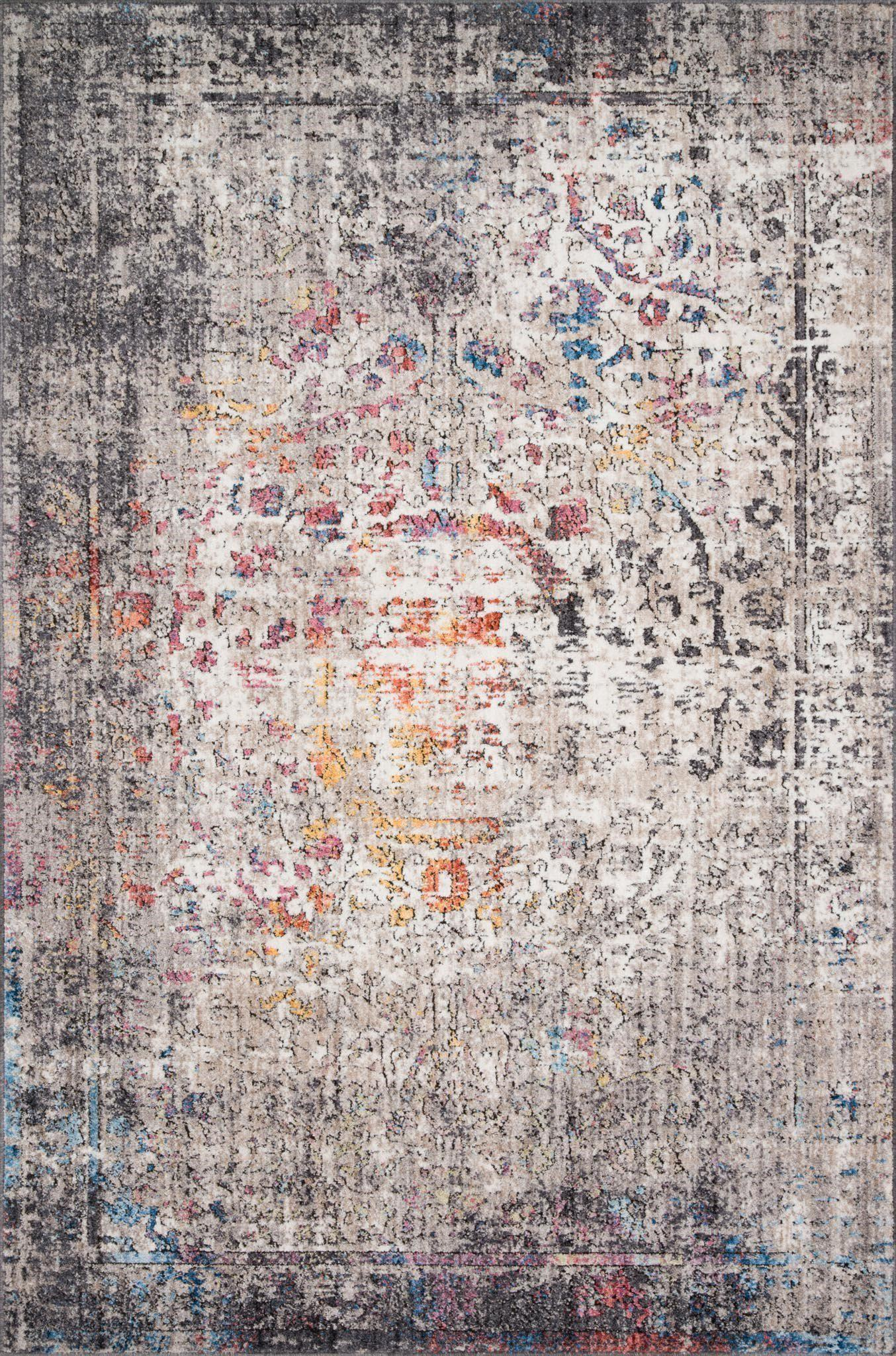"Medusa MED-02 Granite / Multi Area Rug-Area Rug-Loloi-2'-4"" X 4'-The Rug Truck"