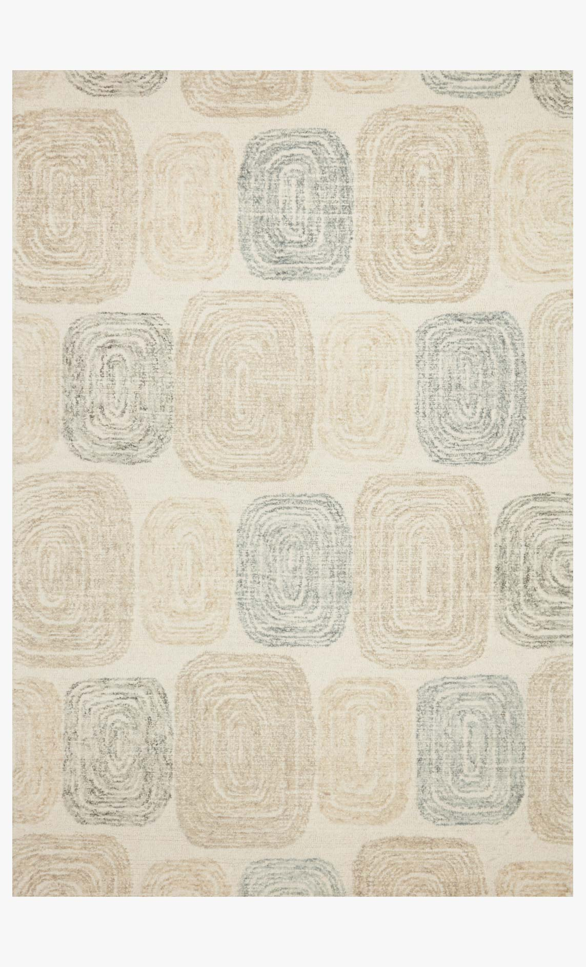 "Loloi MILO MLO-01 Teal / Neutral Area Rug (8'-6"" x 12')"
