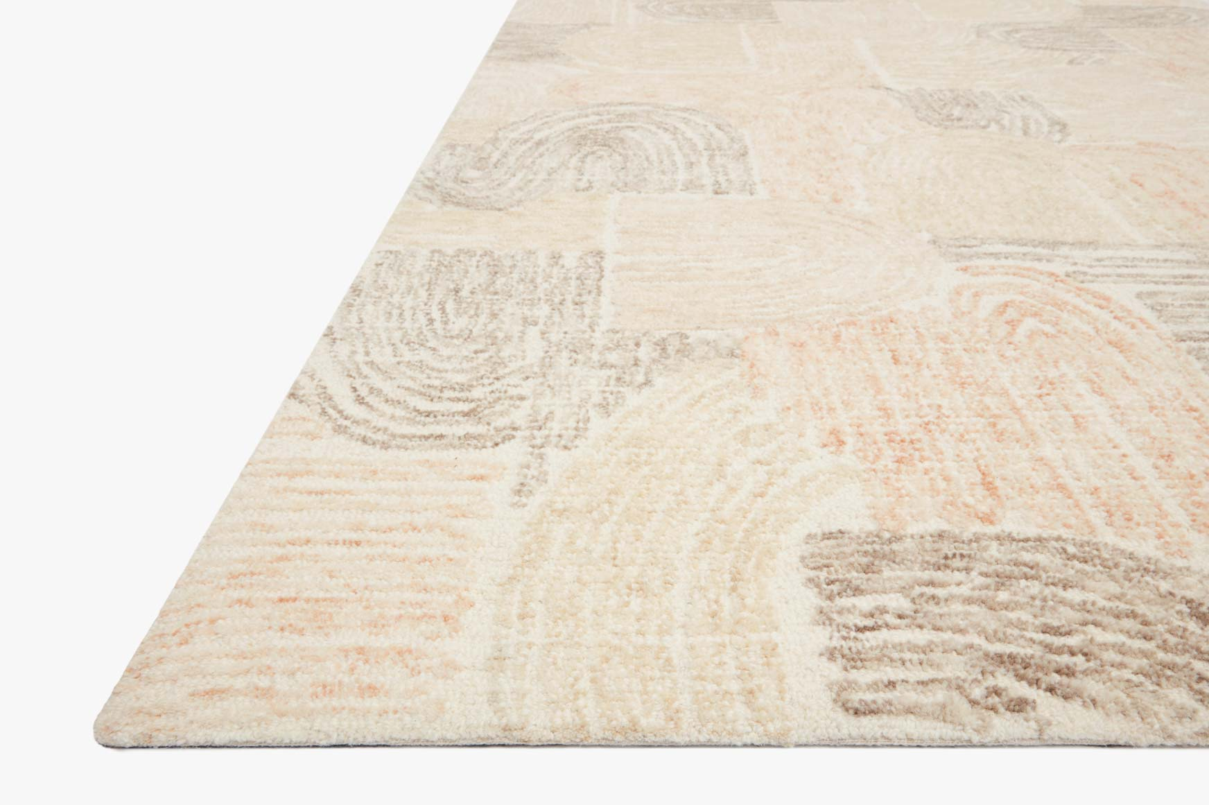 "Loloi MILO MLO-02 Peach / Pebble Area Rug (8'-6"" x 12')"