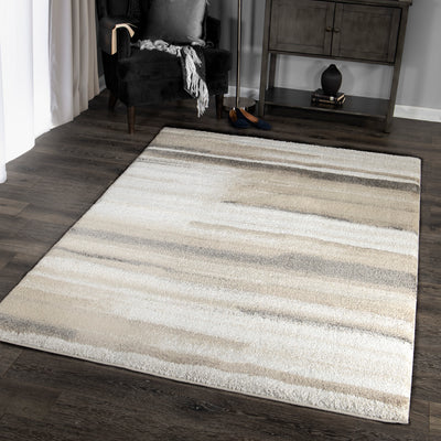 "Palmetto Living Mystical Modern Motion   Natural Area Rug - 7'10"" x 10'10"""