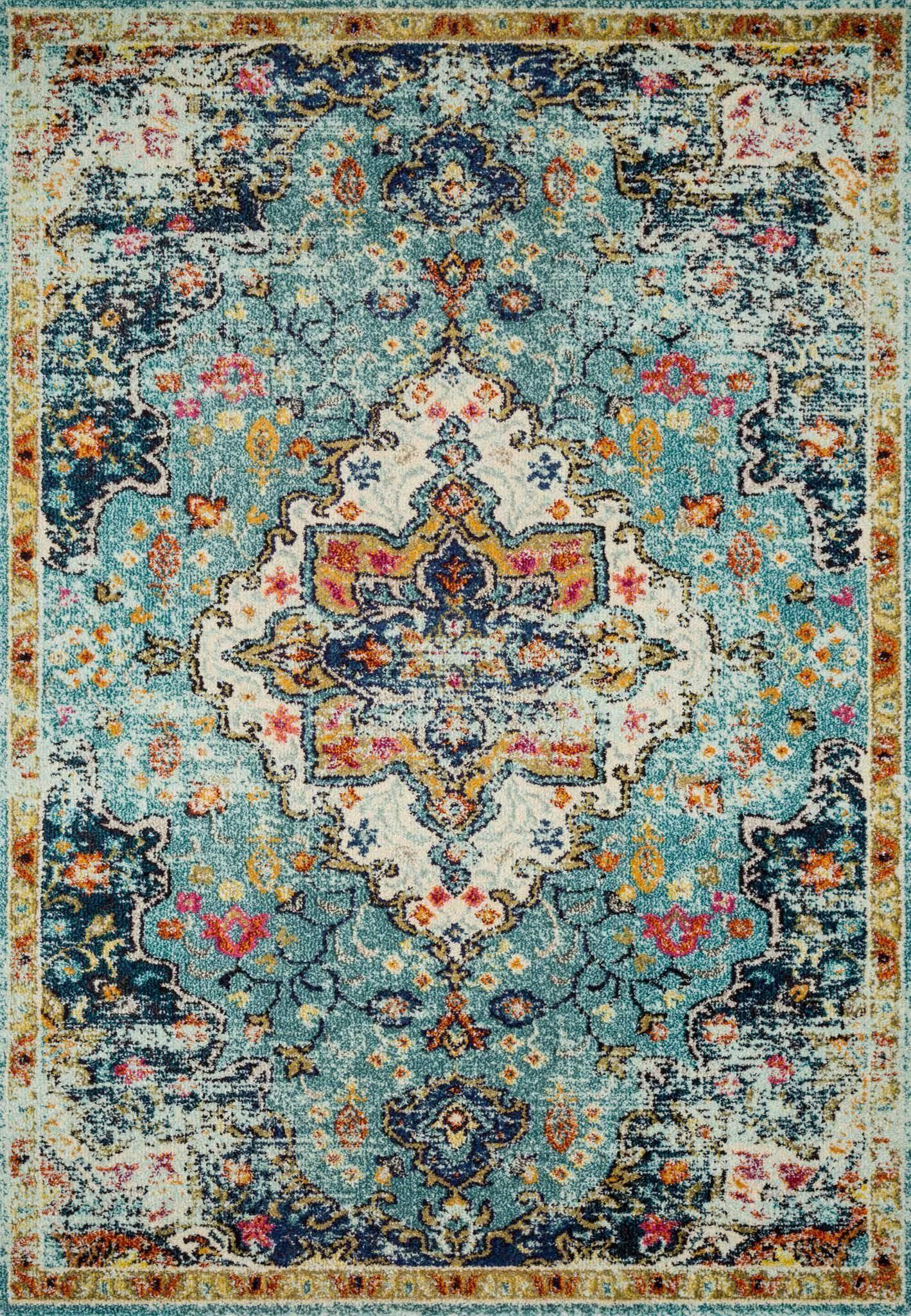 "Nadia NN-04 Blue / Midnight Area Rug-Area Rug-Loloi-2'-2"" x 6'-0""-The Rug Truck"