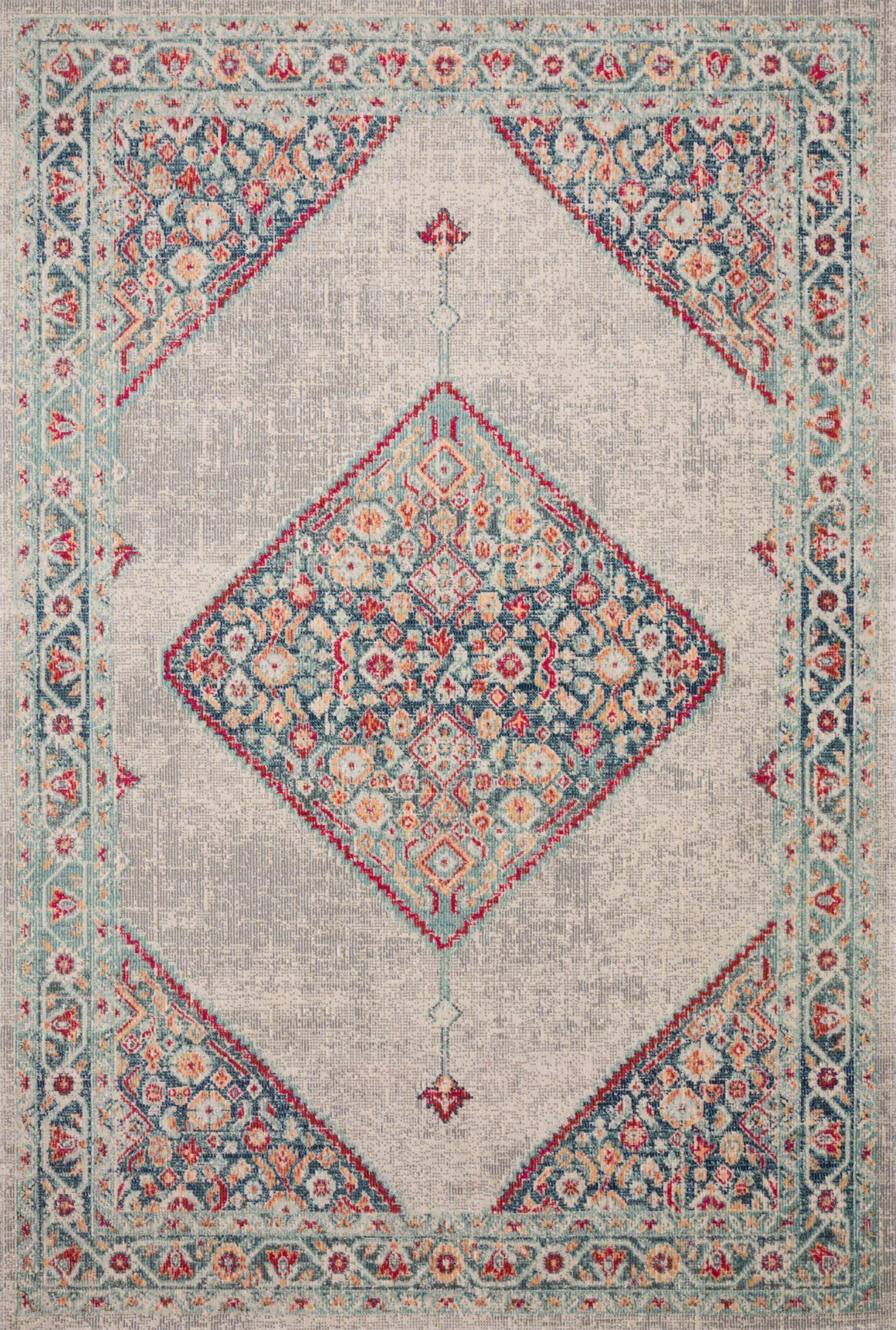 "Nour NU-04 Stone / Multi Area Rug-Area Rug-Loloi-1'-11"" X 3' RECTANGLE-The Rug Truck"