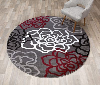 Alpine 108 Red/Grey Area Rug-Area Rug-World Rug Gallery-The Rug Truck