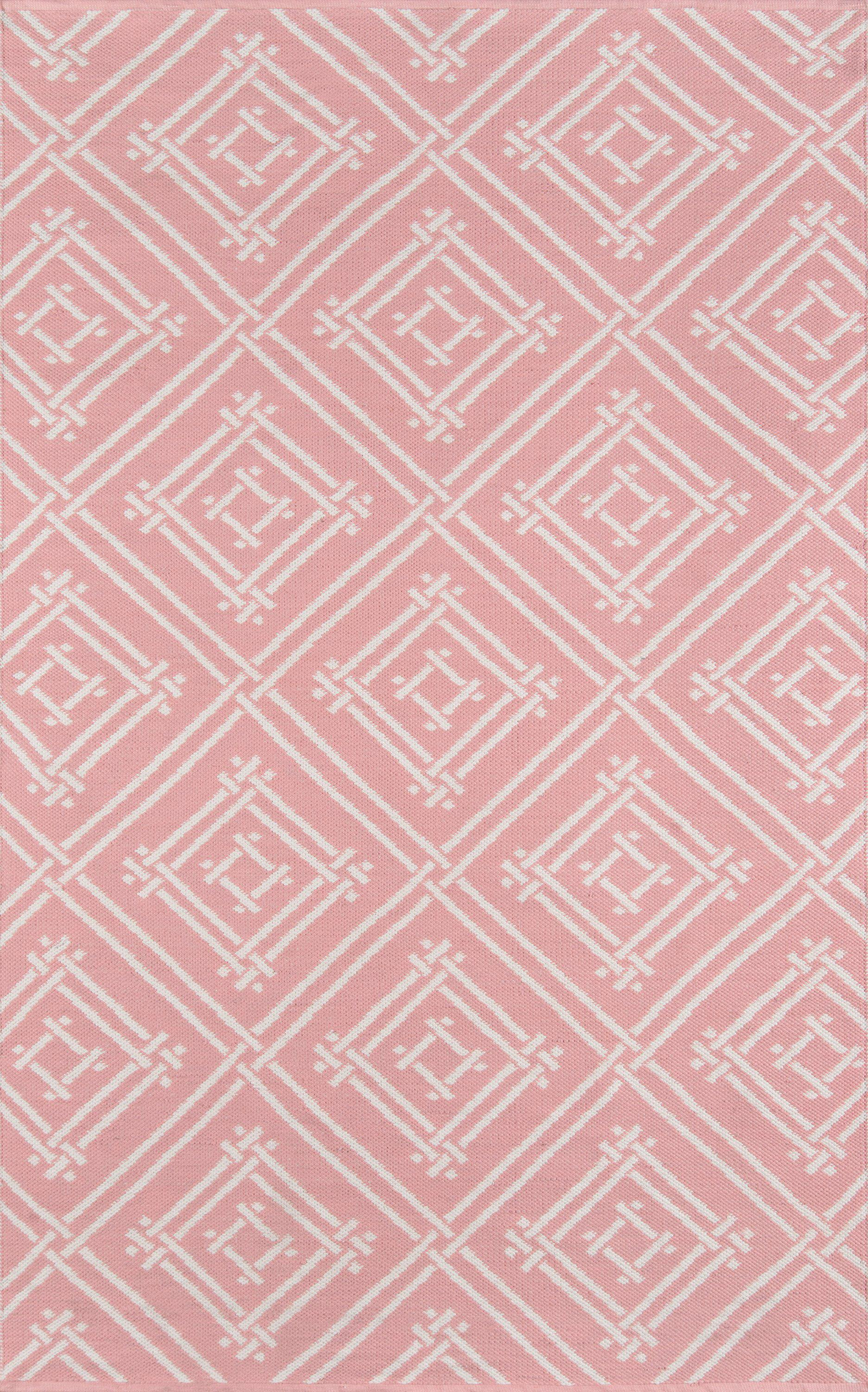 Madcap Cottage by Momeni Palm Beach Pink Area Indoor/Outdoor Rug-Area Rug-Momeni-2' X 3'-The Rug Truck