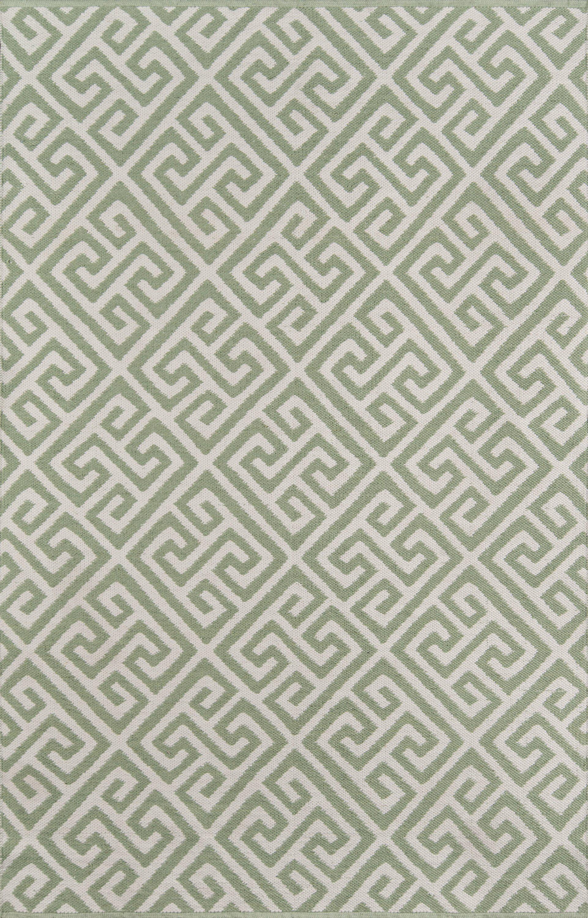 Madcap Cottage by Momeni Palm Beach Brazilian Avenue Green Indoor/Outdoor Area Rug-Area Rug-Momeni-2' X 3'-The Rug Truck