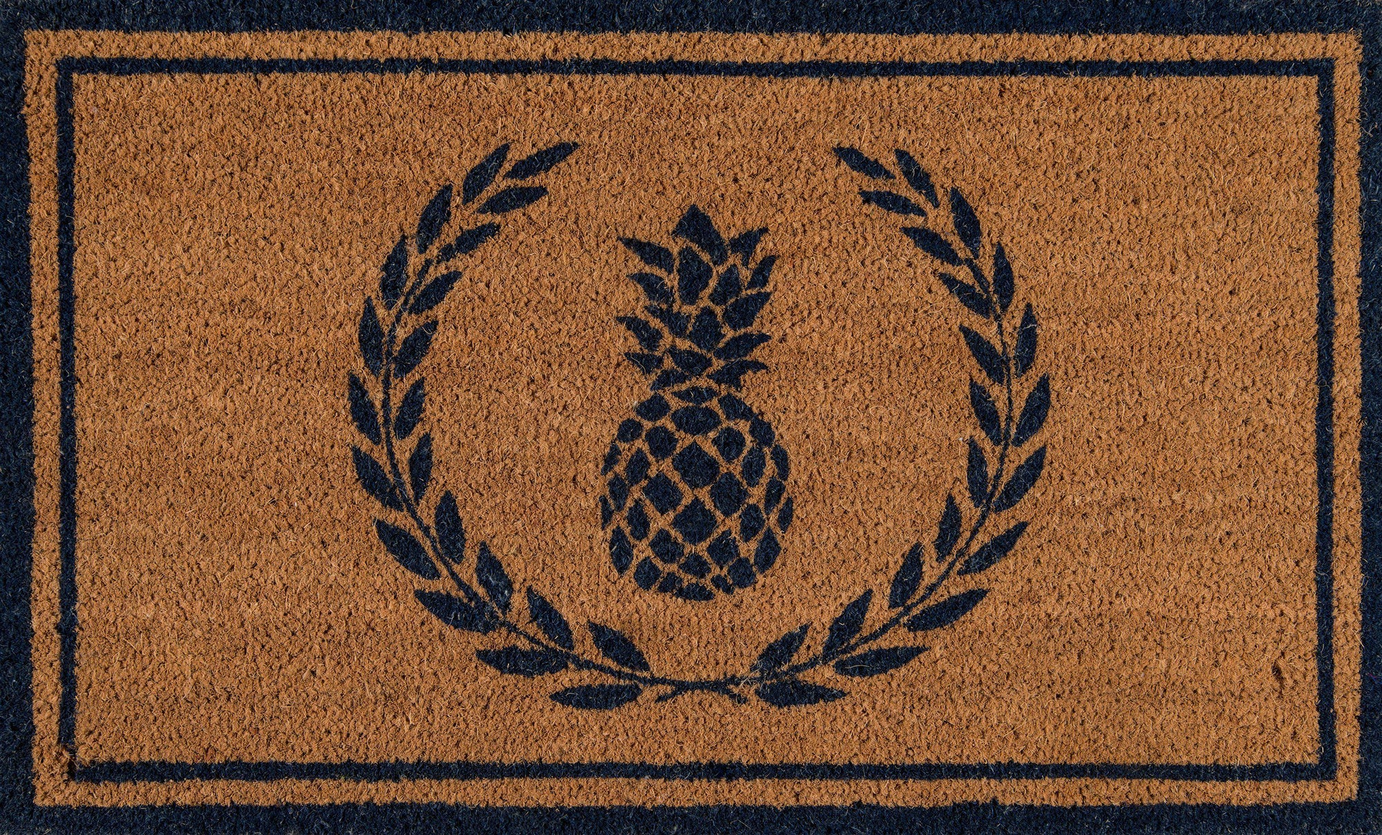"Erin Gates by Momeni Park PAR-1 Pineapple Navy Area Rug-Area Rug-Momeni-1'6"" X 2'6""-The Rug Truck"