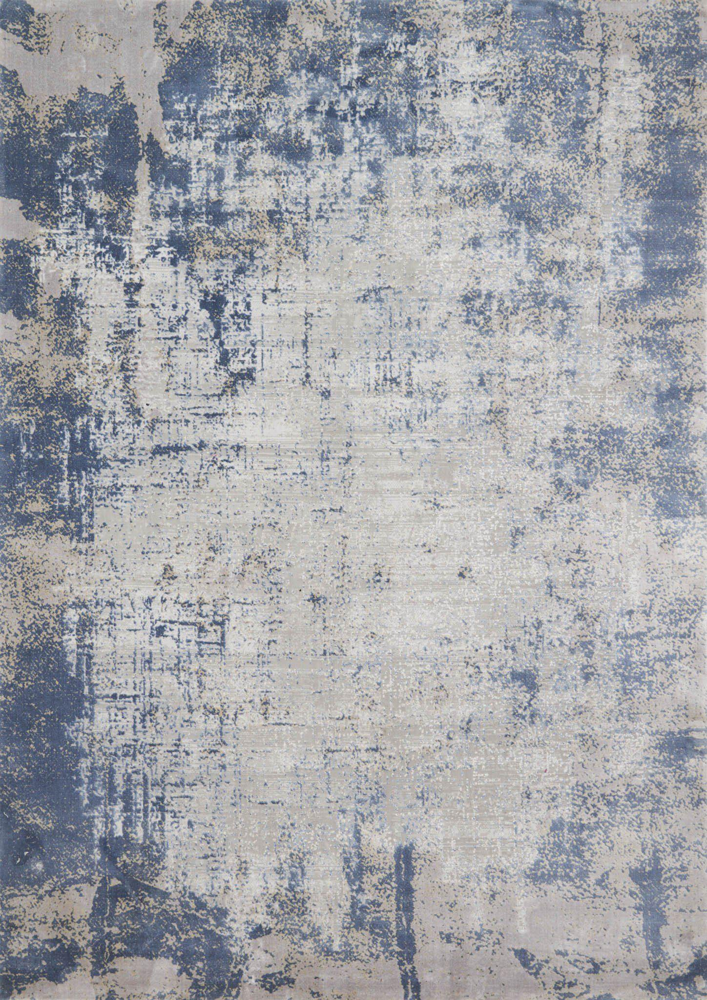 "Patina PJ-01 Denim / Grey Area Rug-Area Rug-Loloi-2'-7"" X 4'-The Rug Truck"