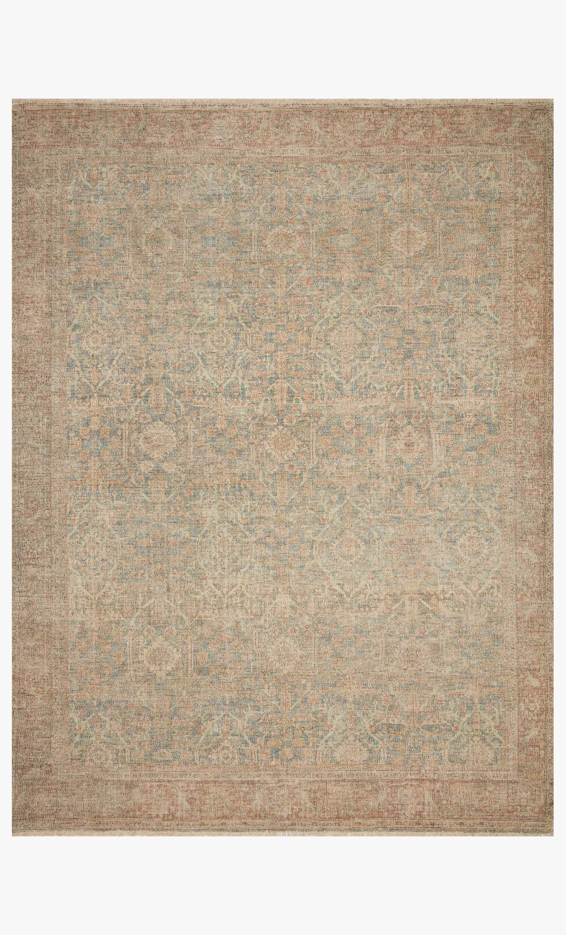 "Loloi PRIYA PRY-06 Denim / Rust Area Rug (8'-6"" x 12')"