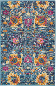 "Passion PSN01 Denim Area Rug-Area Rug-Nourison-1'10"" x 2'10""-The Rug Truck"