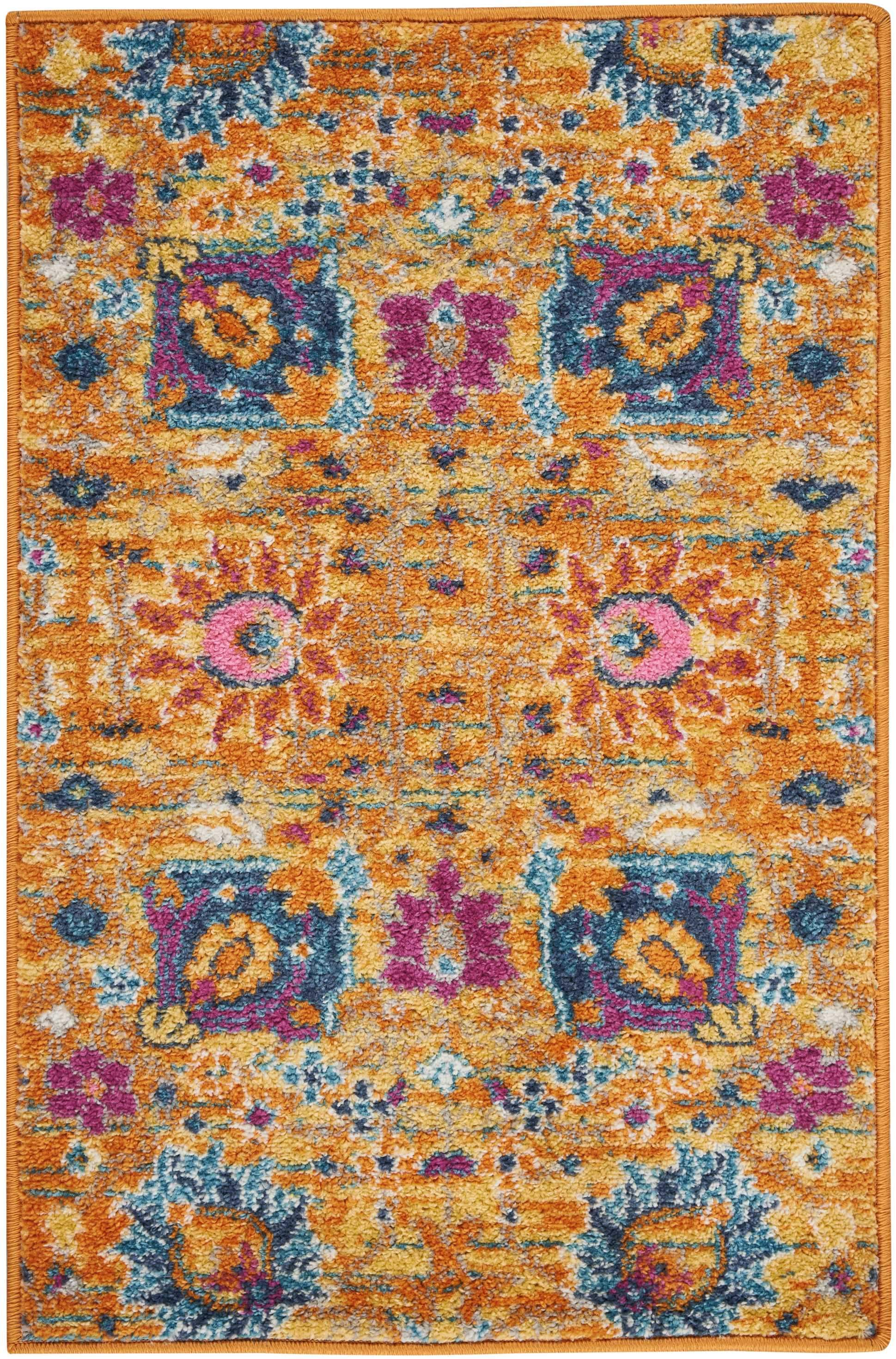 "Passion PSN01 Sun Area Rug-Area Rug-Nourison-1'10"" x 2'10""-The Rug Truck"