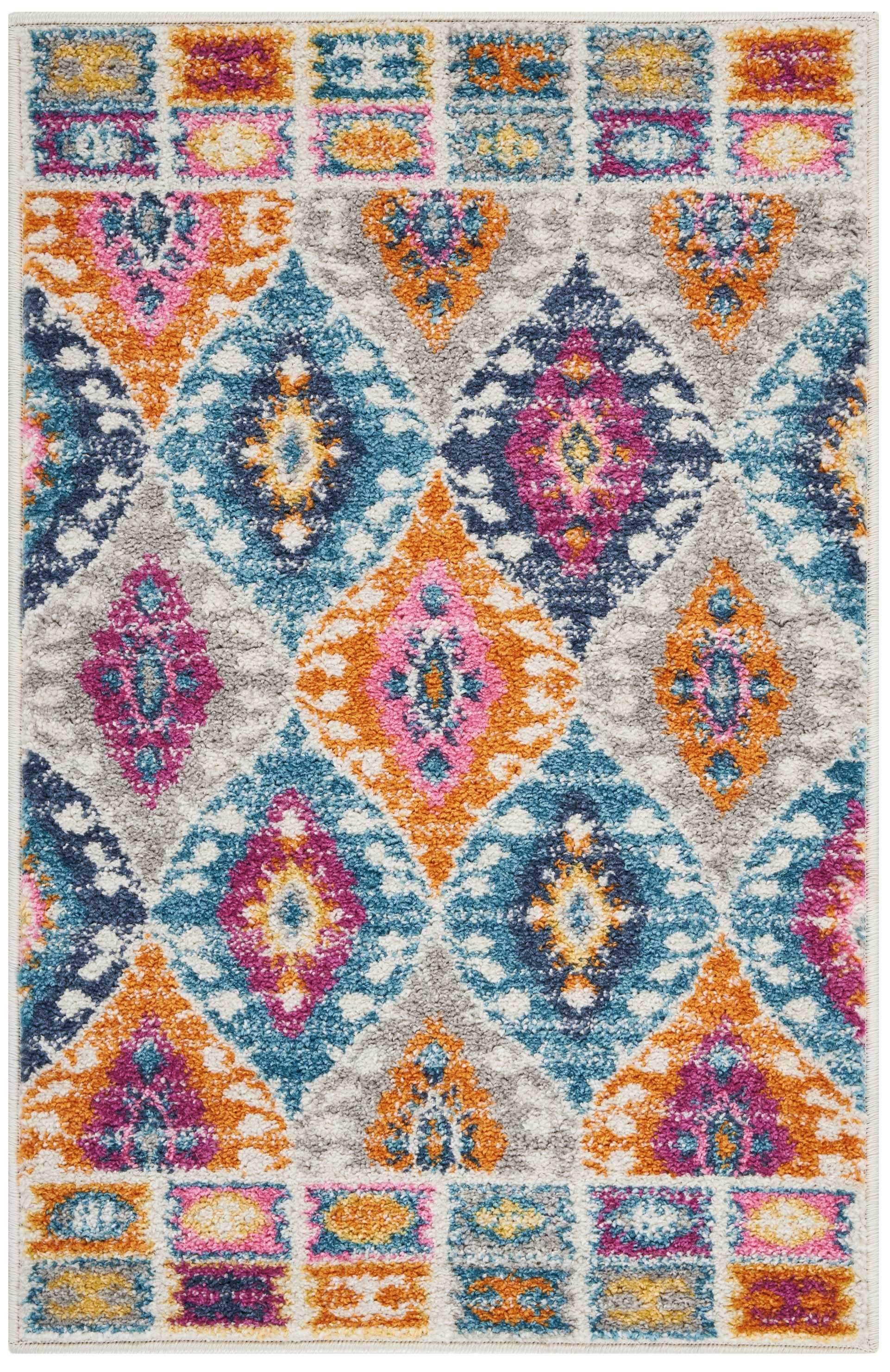 "Passion PSN02 Multicolor Area Rug-Area Rug-Nourison-1'10"" x 2'10""-The Rug Truck"