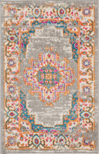 "Passion PSN03 Grey Area Rug-Area Rug-Nourison-1'10"" x 2'10""-The Rug Truck"