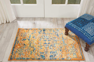 Passion PSN07 Teal/Sun Area Rug-Area Rug-Nourison-The Rug Truck