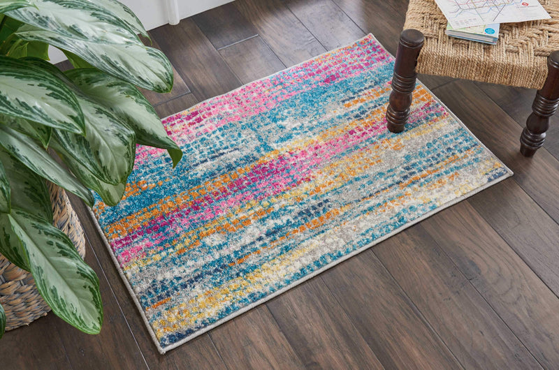 "Passion PSN16 Grey/Multi Area Rug-Area Rug-Nourison-1'10"" x 2'10""-The Rug Truck"