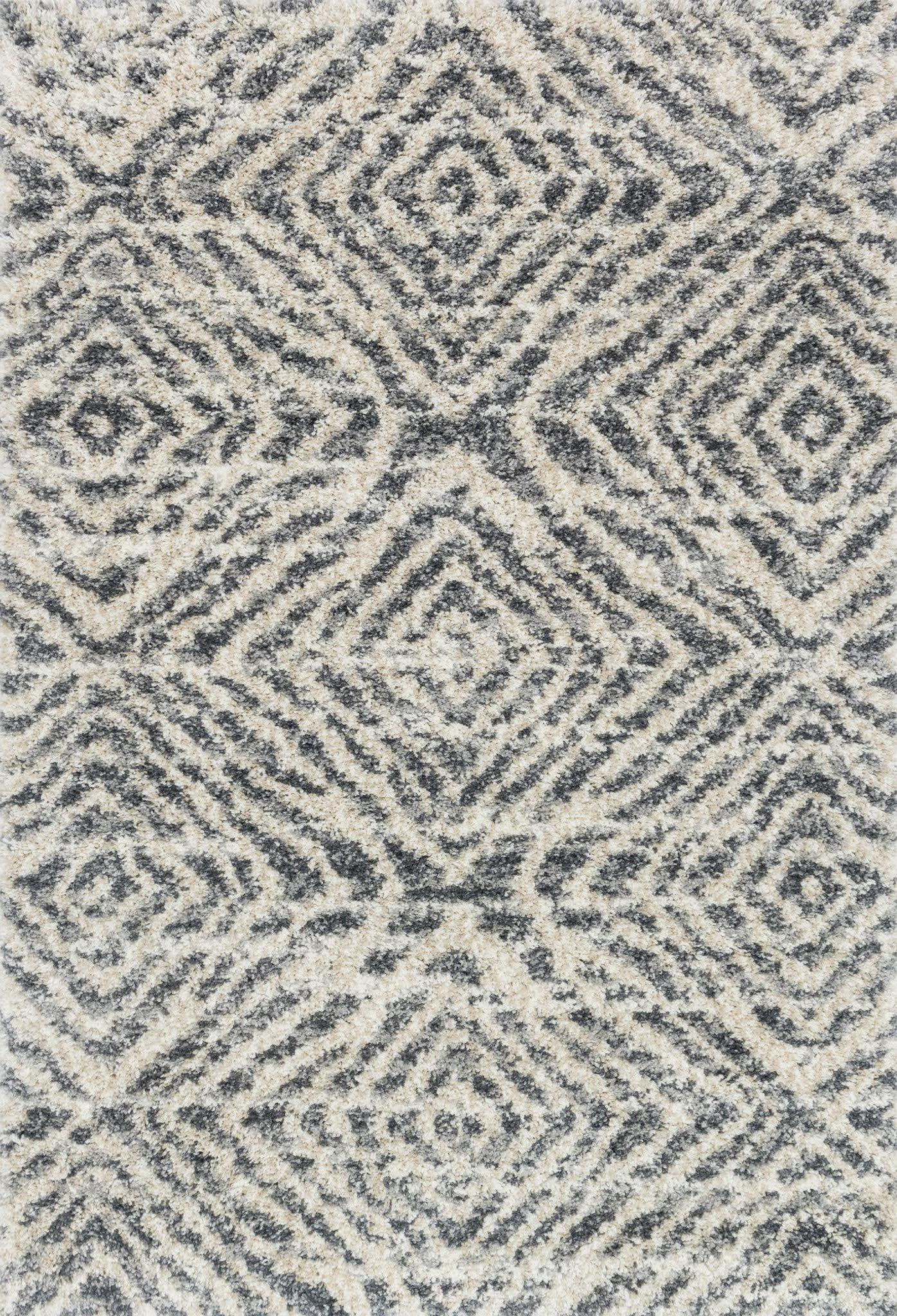 "Quincy QC-01 Graphite / Sand Area Rug-Area Rug-Loloi-2'-3"" x 4'-0""-The Rug Truck"
