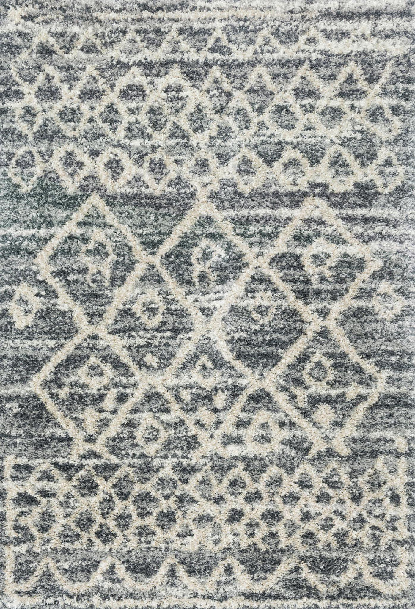 "Quincy QC-02 Graphite / Beige Area Rug-Area Rug-Loloi-2'-3"" x 4'-0""-The Rug Truck"