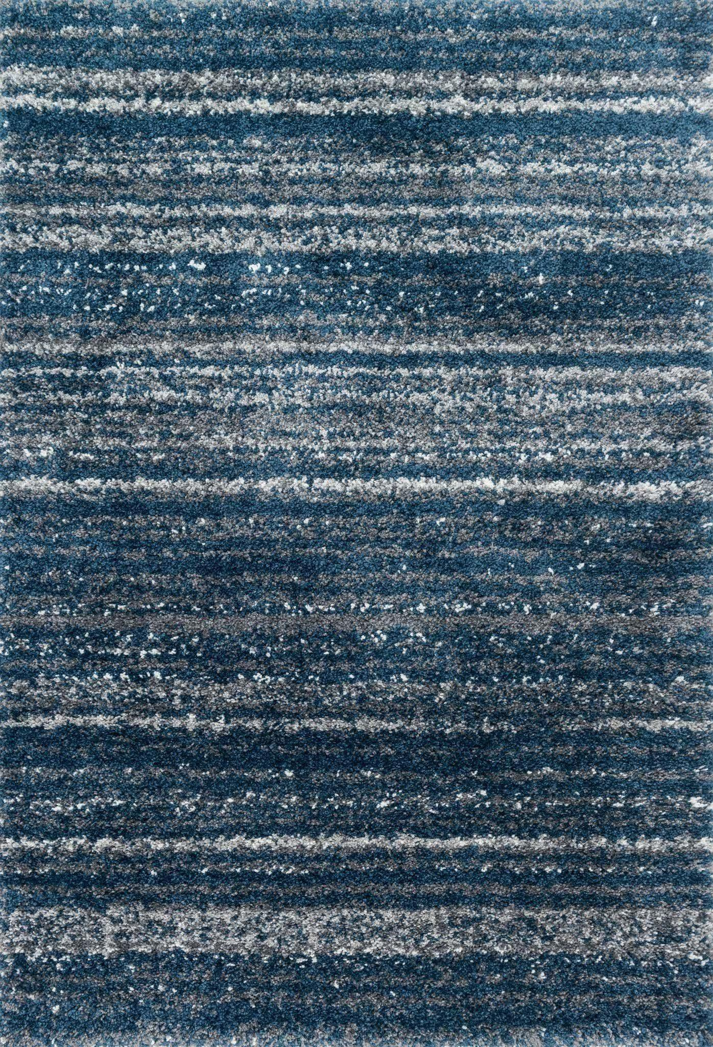 "Quincy QC-05 Navy / Pewter Area Rug-Area Rug-Loloi-2'-3"" x 4'-0""-The Rug Truck"