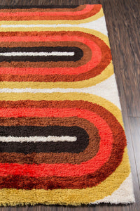 Novogratz by Momeni Retro RET-2 Retro Wave Red Area Rug-Area Rug-Momeni-The Rug Truck