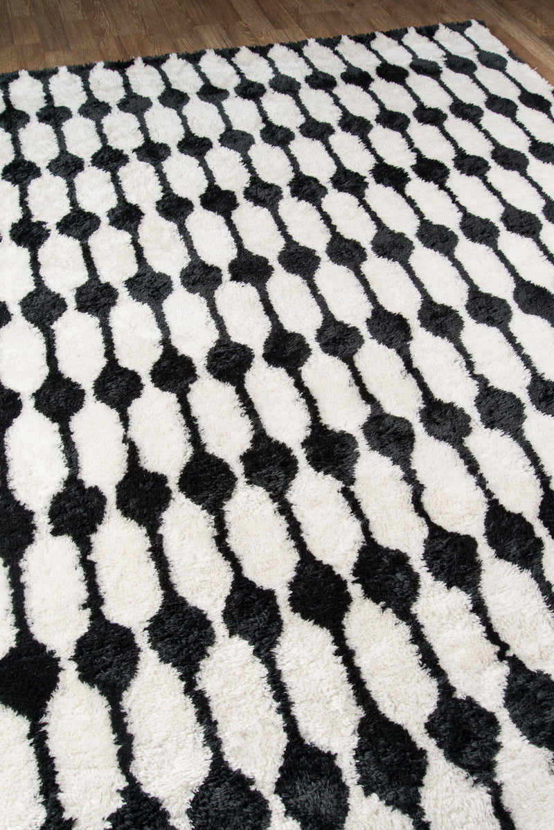 Novogratz by Momeni Retro RET-4 Stockings Black Area Rug-Area Rug-Momeni-2' X 3'-The Rug Truck