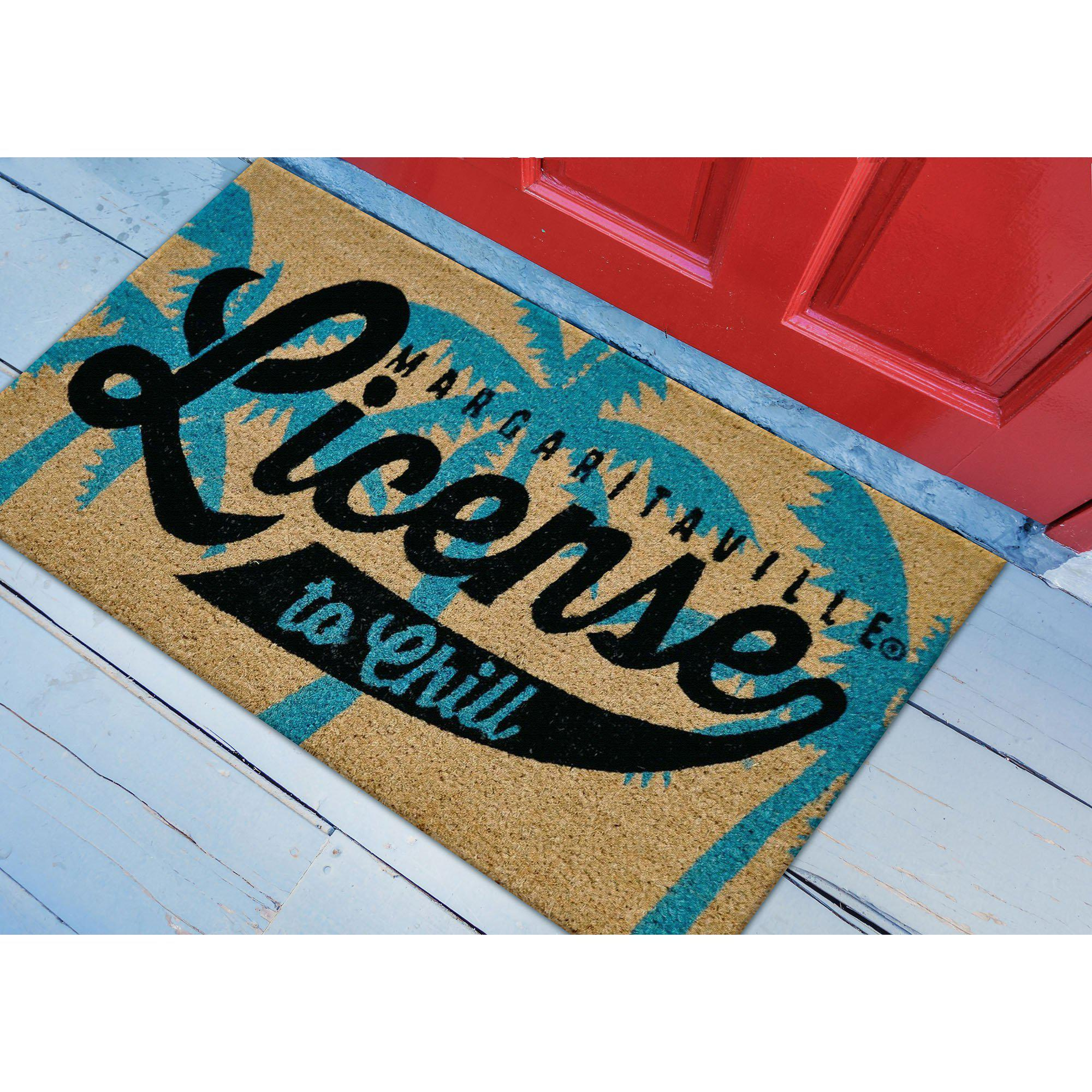 "Liora Manne Cabana License To Chill Black Mats-Area Rug-Trans-Ocean-18""X30""-The Rug Truck"