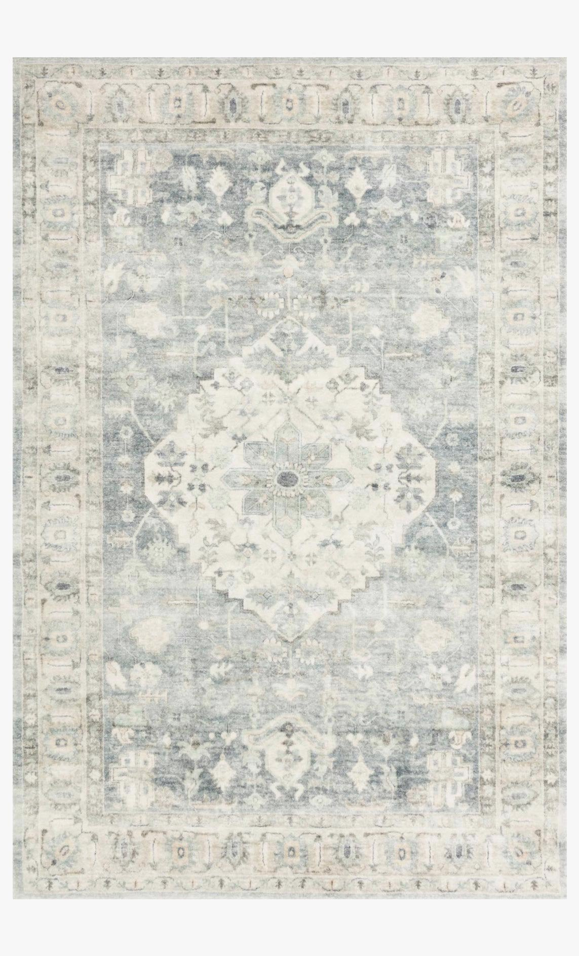 ROSETTE ROS-07 DENIM / FOG Area Rug