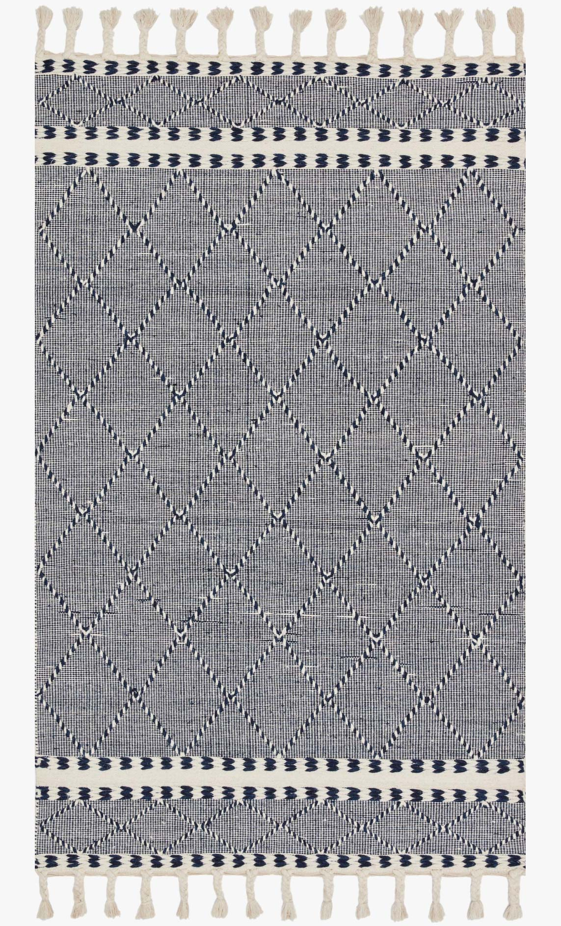 "Loloi II SAWYER SAW-02 Navy Area Rug (7'-6"" x 9'-6"")"