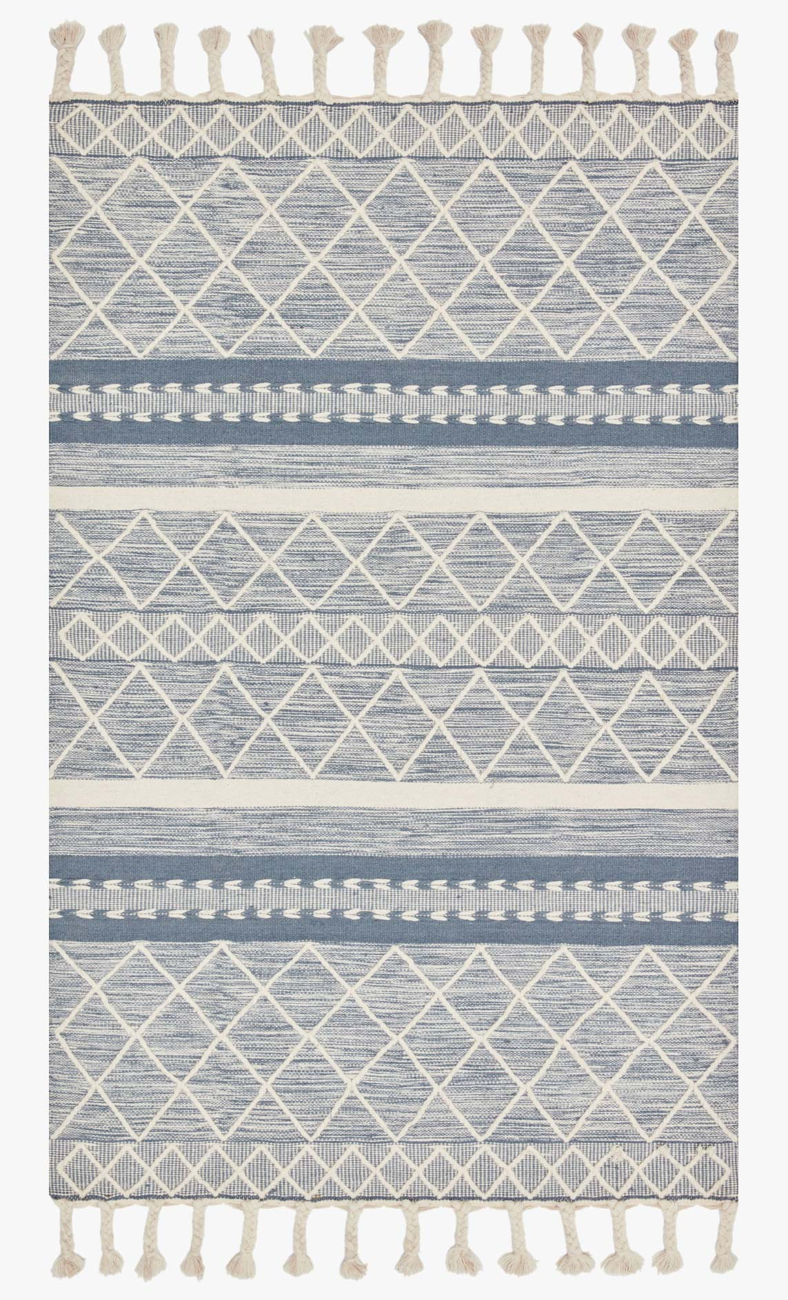 "Loloi II SAWYER SAW-04 Teal Area Rug (7'-6"" x 9'-6"")"