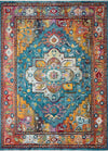 "Justina Blakeney Collection Silvia SIL-04 Blue / Fiesta-Area Rug-Loloi-2'-6"" x 4'-0""-The Rug Truck"