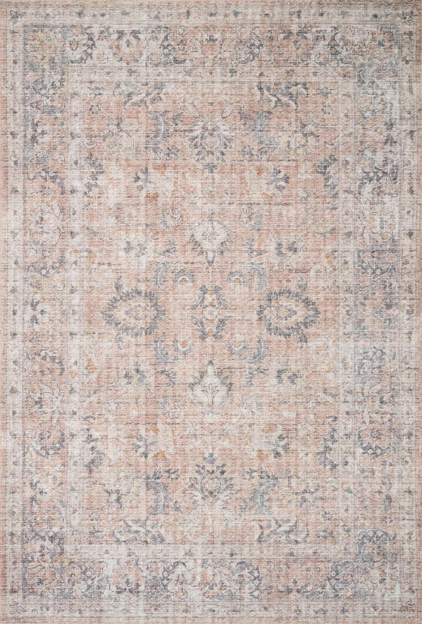 "Skye SKY-01 Blush / Grey Area Rug-Area Rug-Loloi-1'-6"" x 1'-6"" Square-The Rug Truck"