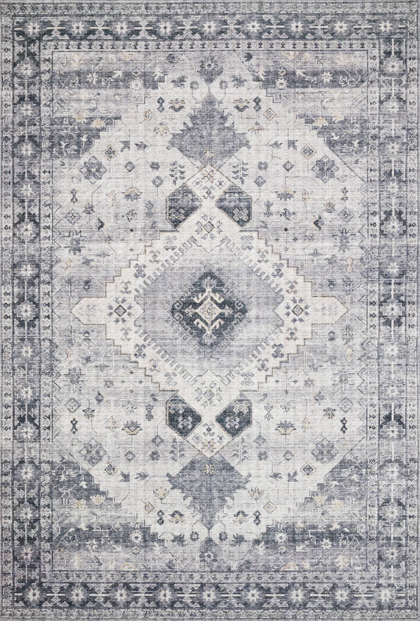"Skye SKY-02 Silver / Grey Area Rug-Area Rug-Loloi-1'-6"" x 1'-6"" Square-The Rug Truck"