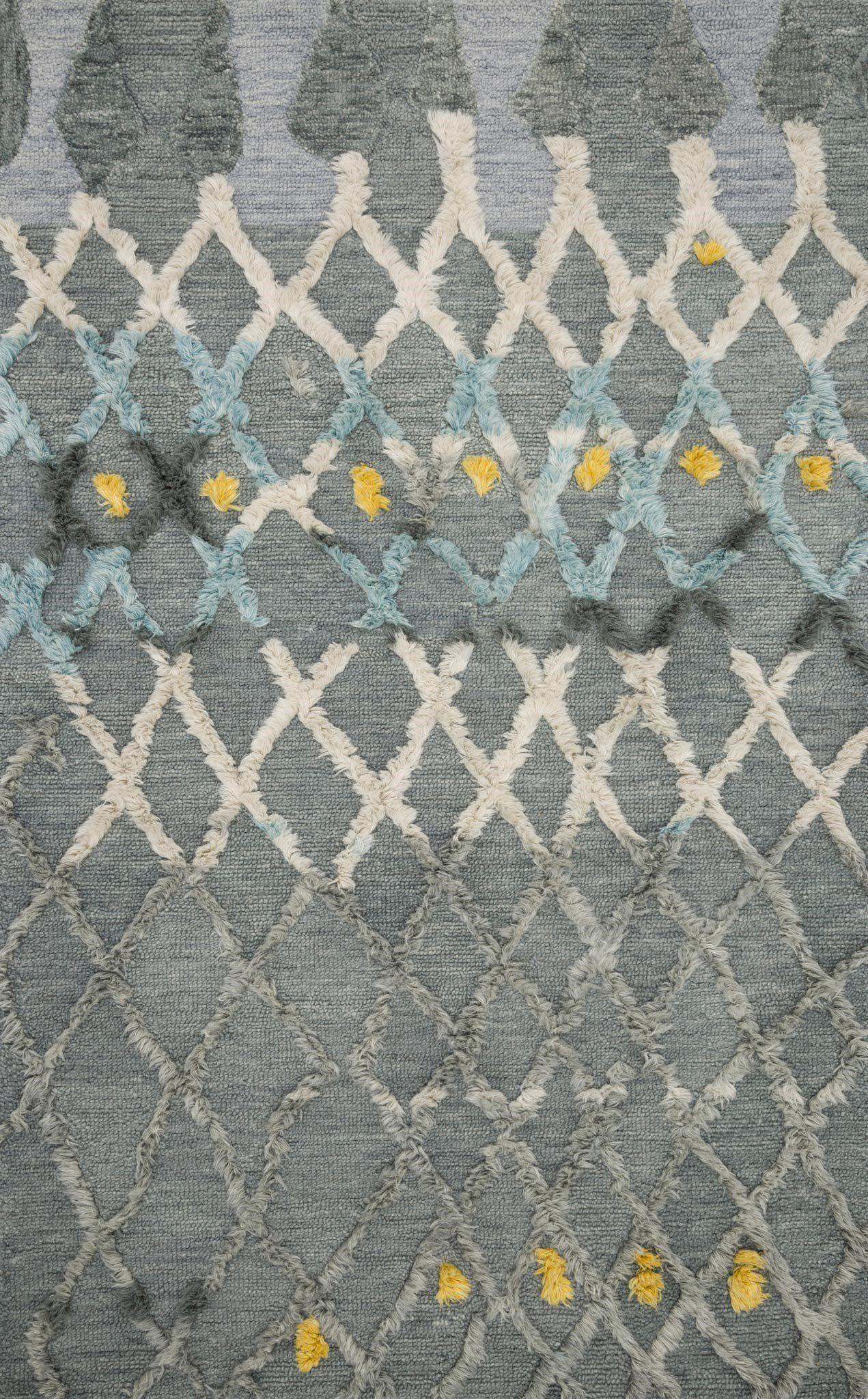 "Symbology-Loloi X Justina Blakeney Collection SYM-03 Grey / Multi Area Rug-Area Rug-Loloi-2'-6"" X 7'-6""-The Rug Truck"