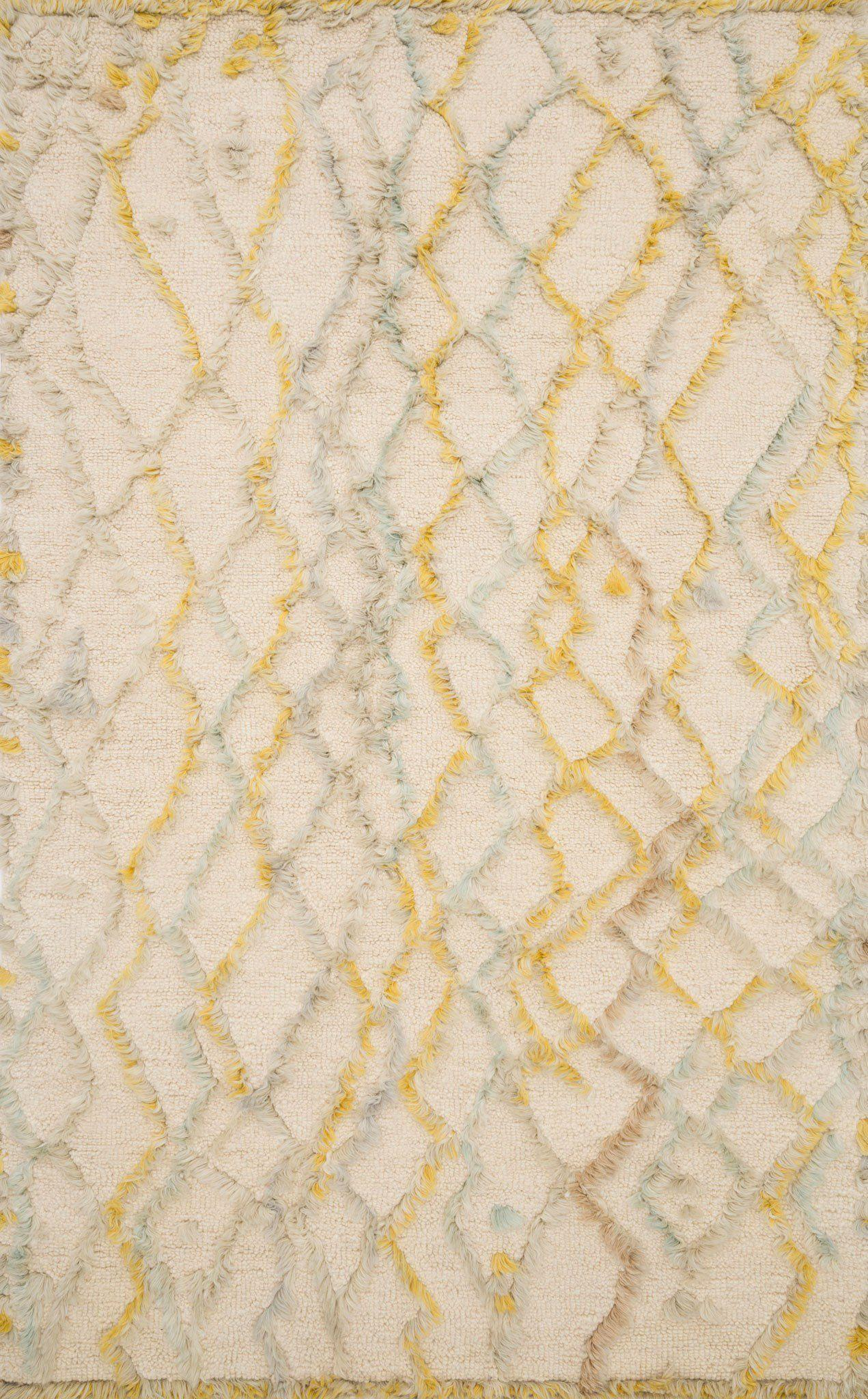 "Symbology-Loloi X Justina Blakeney Collection SYM-05 Ivory / Multi Area Rug-Area Rug-Loloi-2'-6"" X 7'-6""-The Rug Truck"