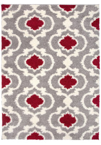 "Florida 2525 Red Area Rug-Area Rug-World Rug Gallery-3'3"" x 5'-The Rug Truck"