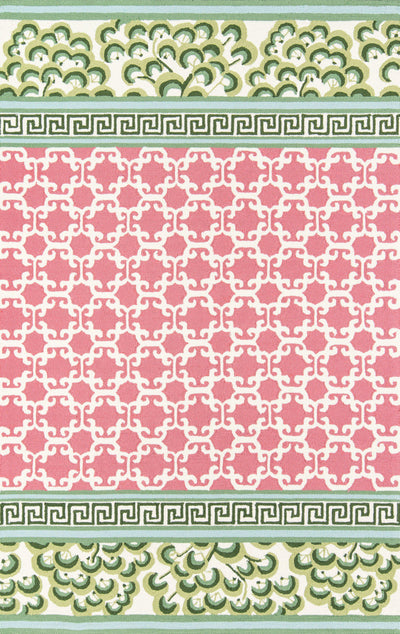 Madcap Cottage by Momeni Under A Loggia Montserrat Pink Indoor/Outdoor Area Rug-Area Rug-Momeni-2' X 3'-The Rug Truck