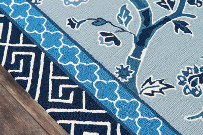 Madcap Cottage by Momeni Under A Loggia Blossom Dearie Blue Indoor/Outdoor Area Rug-Area Rug-Momeni-The Rug Truck