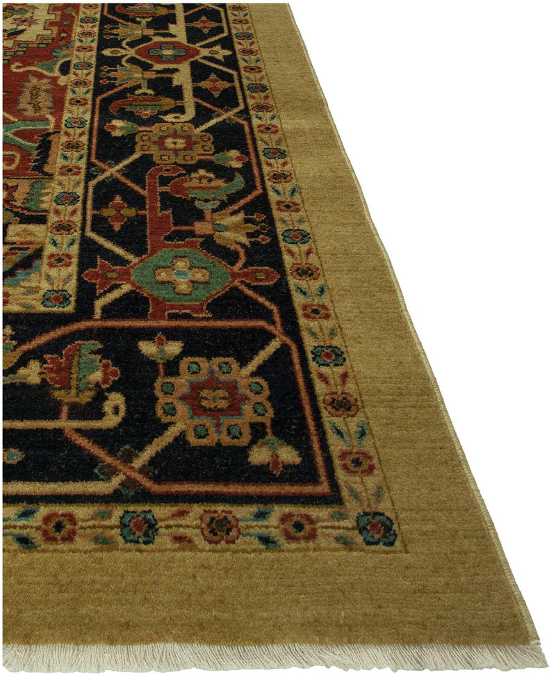 Heirloom Heriz Beige/Navy-Area Rugs-The Rug Truck-2' x 3'-The Rug Truck