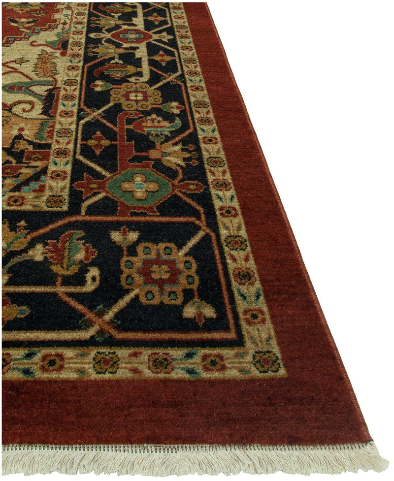Heirloom Heriz Rust/Navy-Area Rugs-The Rug Truck-2' x 3'-The Rug Truck