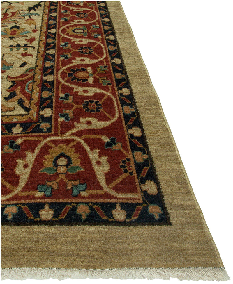 "Heirloom Serapi Beige/Rust-Area Rugs-The Rug Truck-2' 6"" x 4'-The Rug Truck"