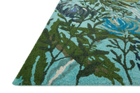 Wild Bloom WV-03 Aqua / Green-Area Rug-Loloi-The Rug Truck