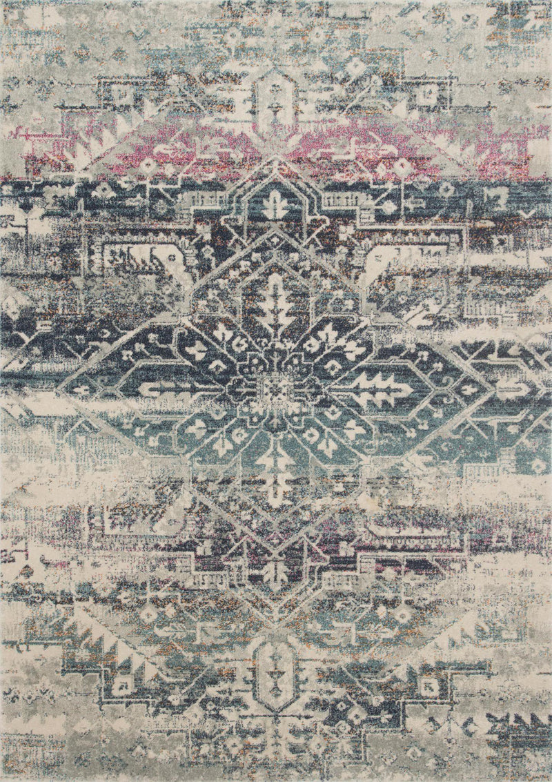"Zehla ZL-01 Midnight / Multi Area Rug-Area Rug-Loloi-2'-2"" X 3'-9""-The Rug Truck"