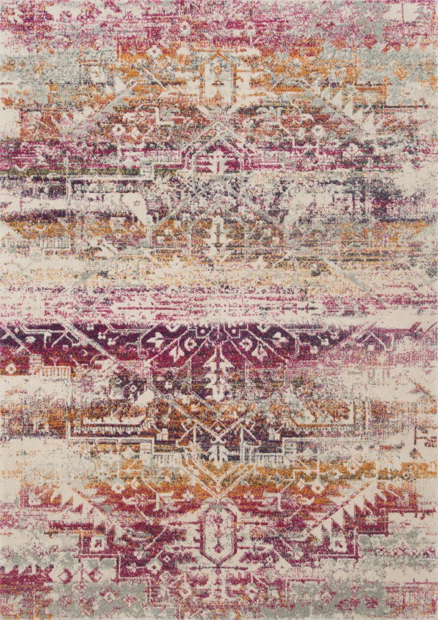 "Zehla ZL-01 Sunset / Ivory Area Rug-Area Rug-Loloi-2'-2"" X 3'-9""-The Rug Truck"